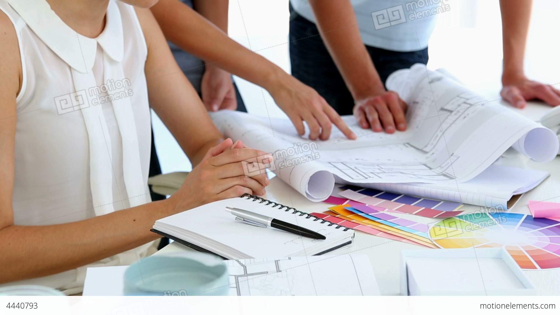 Interior Designers With Clients Pretty Interior Designer Working With Clients Stock Video Footage