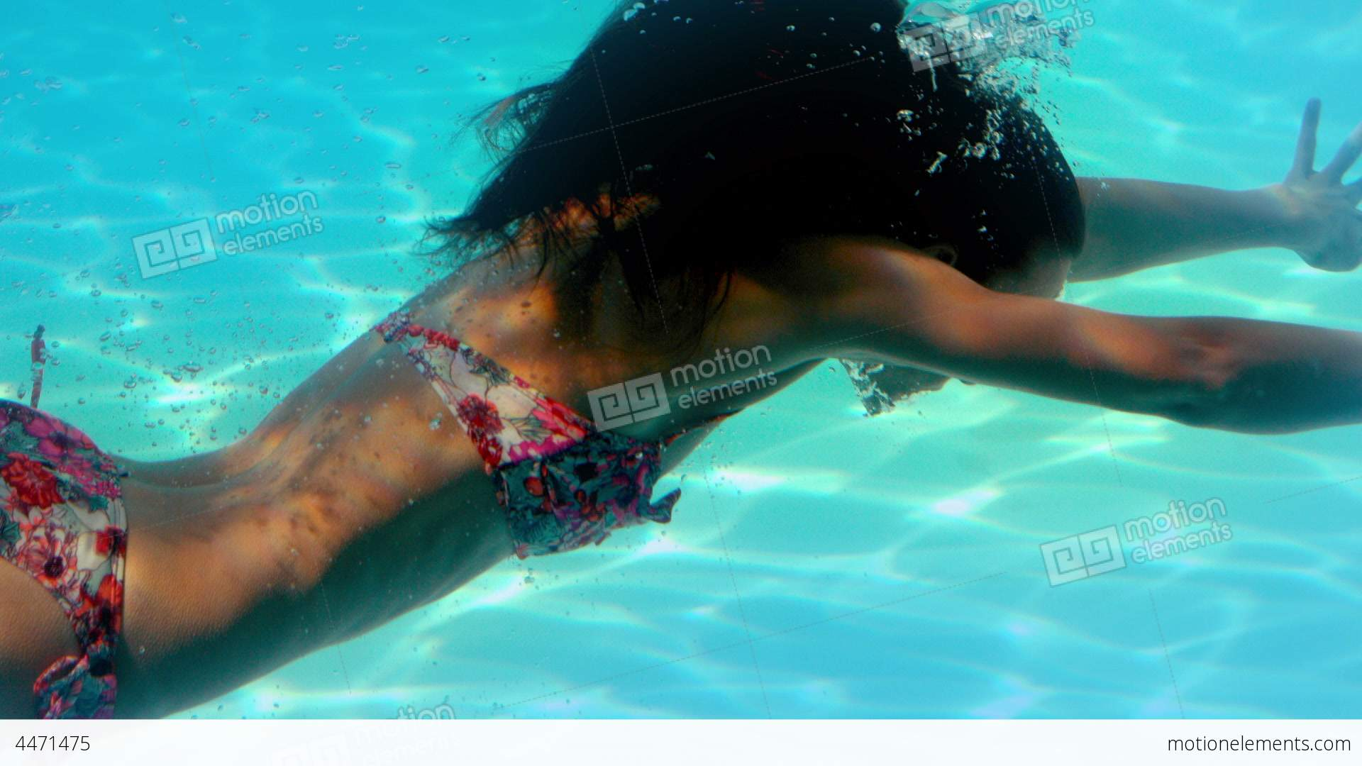 Brunette Swimming Underwater In The Pool Stock Video Footage People Fashion Adults