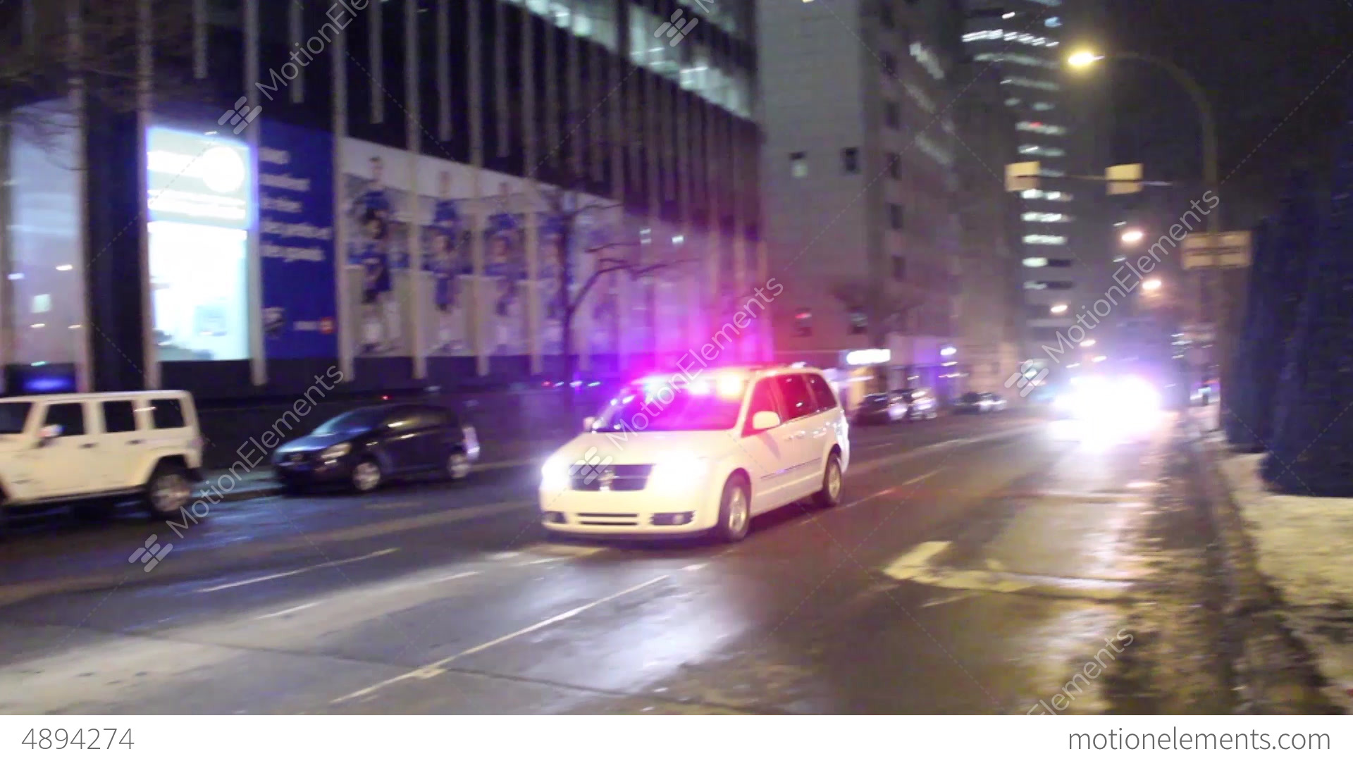 Delightful Police Procession With Lights And Sirens Stock Video Footage