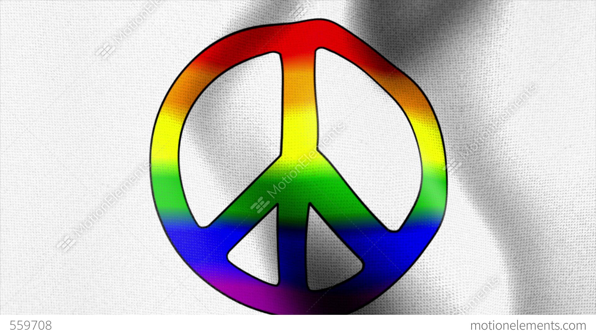 Waving flag rainbow peace sign stock animation 559708 waving flag rainbow peace sign stock video footage biocorpaavc