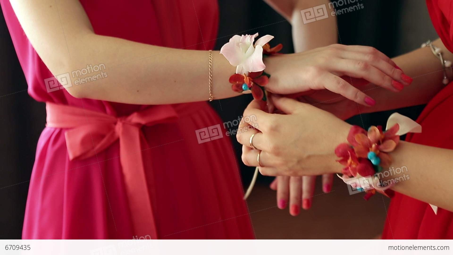 Dress up elements - Bridesmaid Dress Up Stock Video Footage