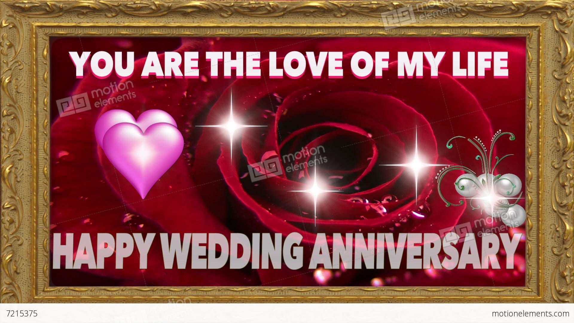 Wedding anniversary digital card stock video footage