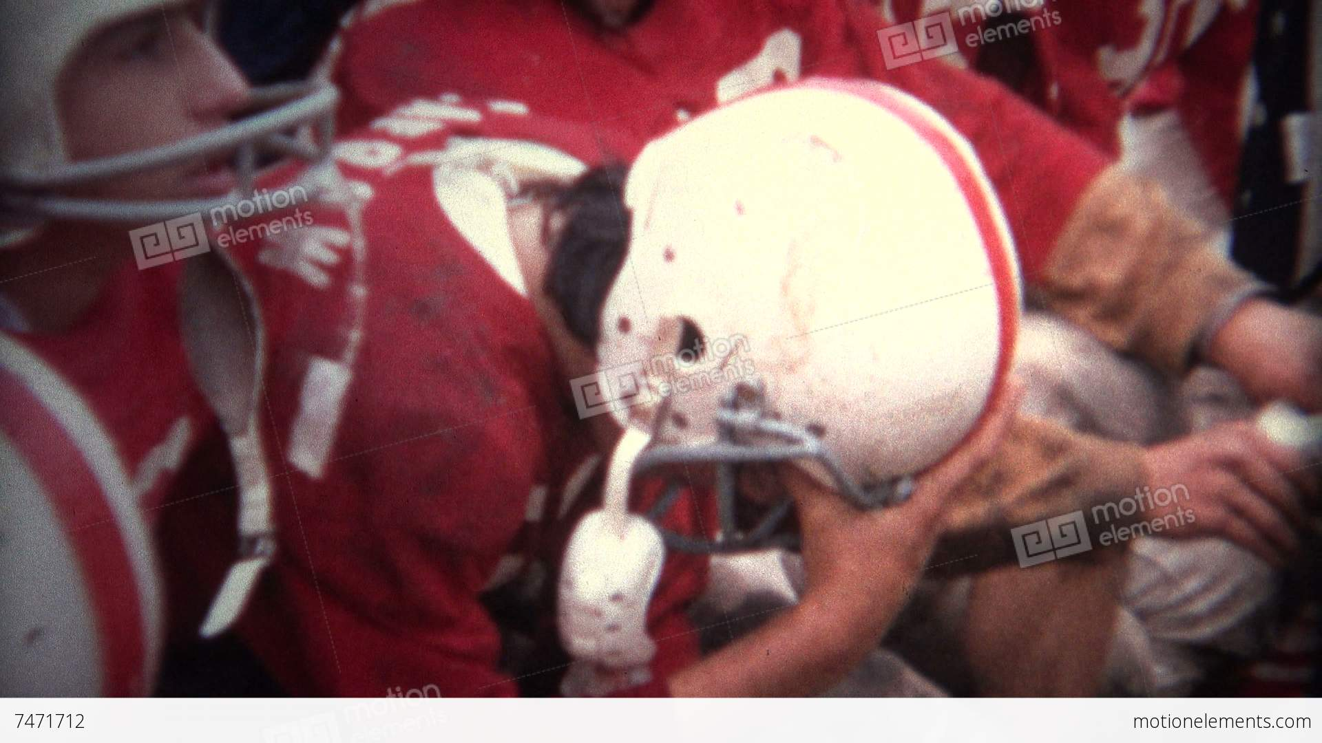 8mm Vintage) Injured American Football Player Stock video footage ...