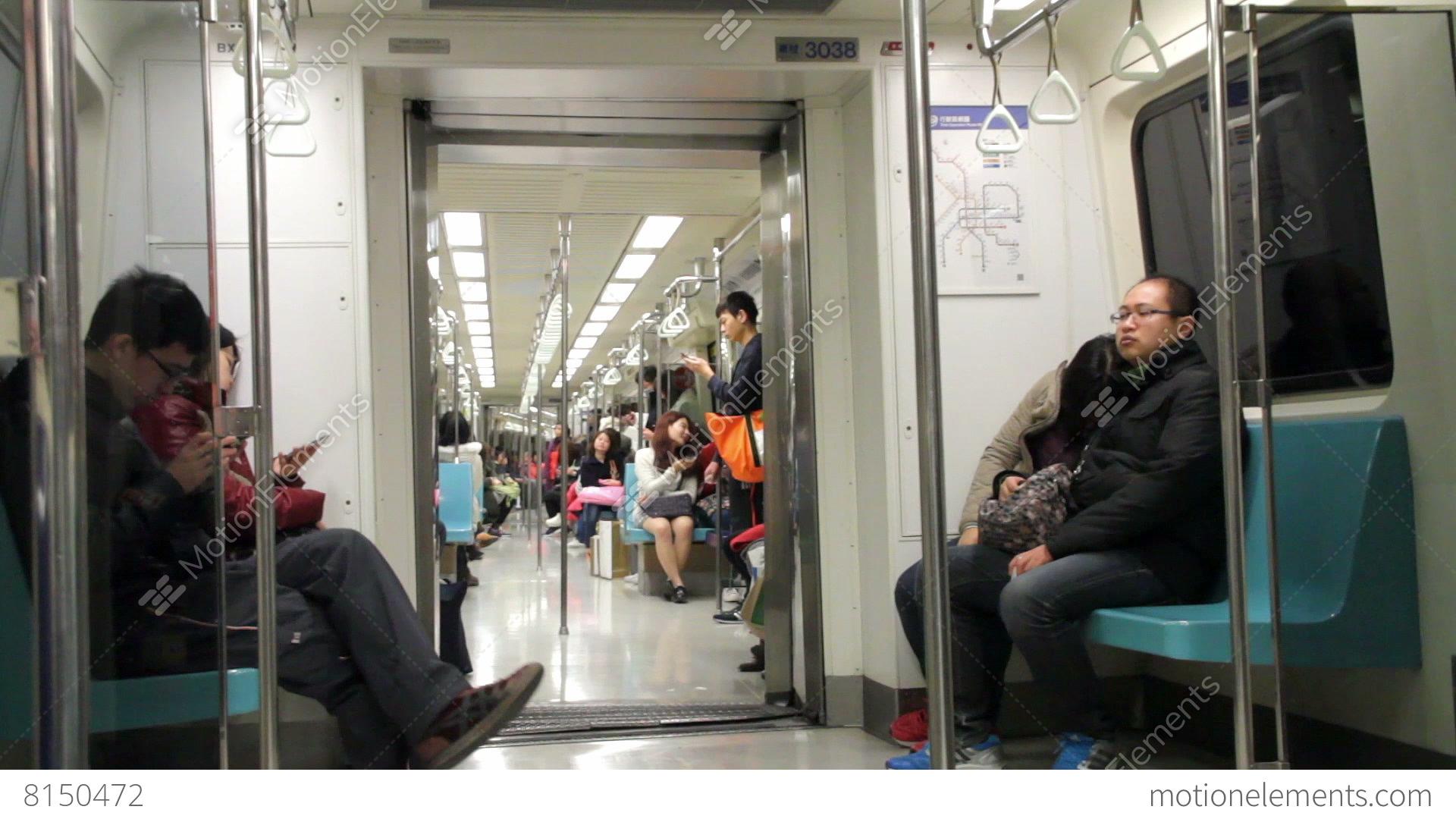 Taipei metro carriage hd stock video footage 8150472 - Carrage metro ...
