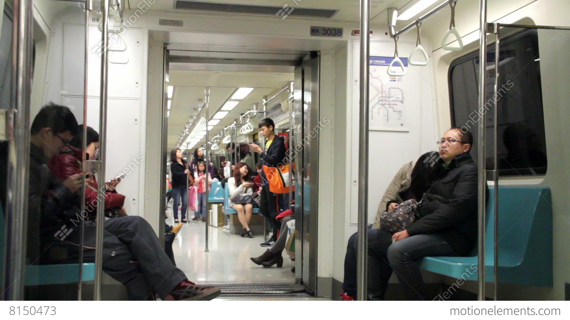 Taipei metro carriage hd stock video footage 8150473 - Carrage metro ...