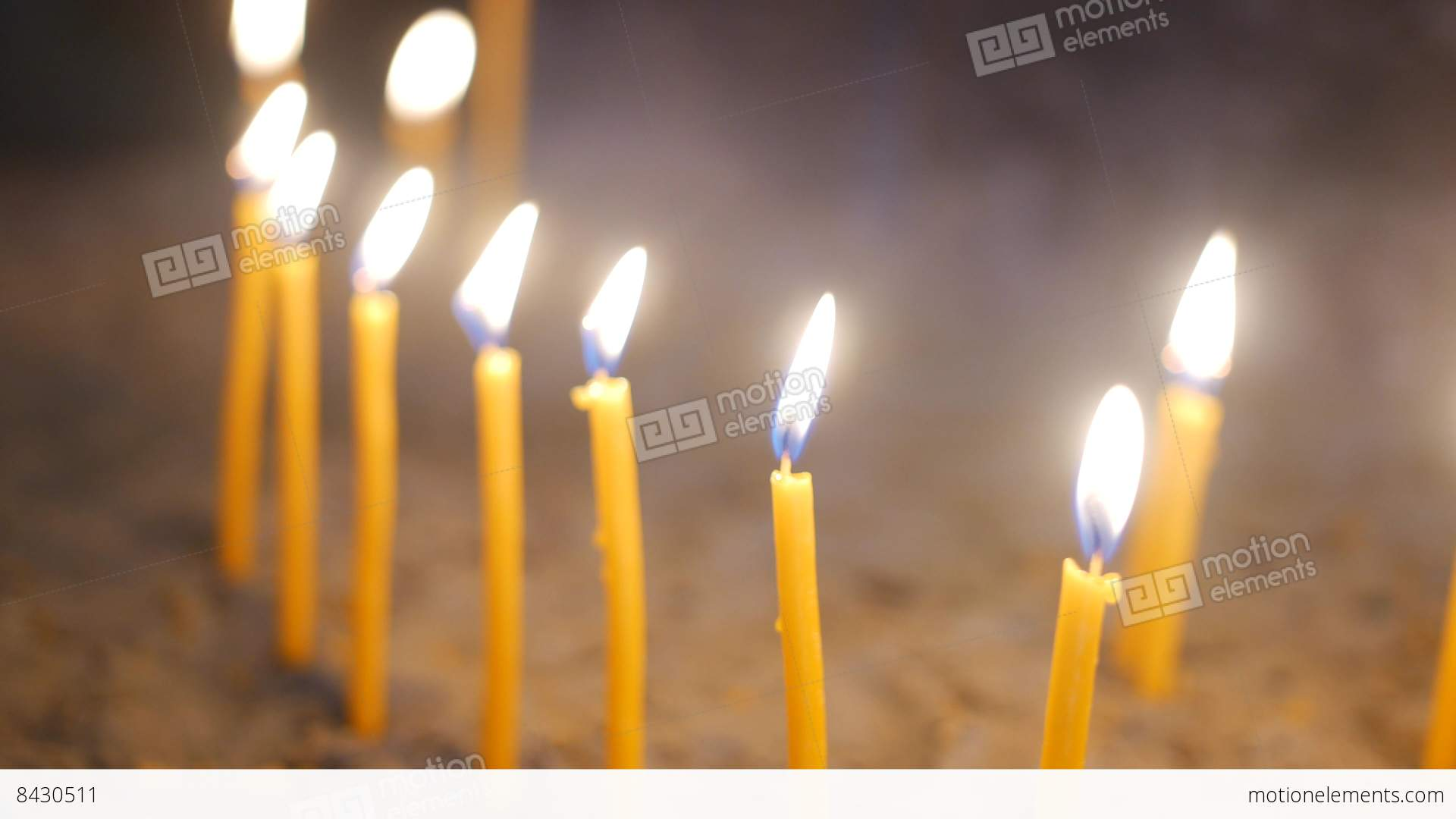 Candles Burning Close Up Stock Video Footage