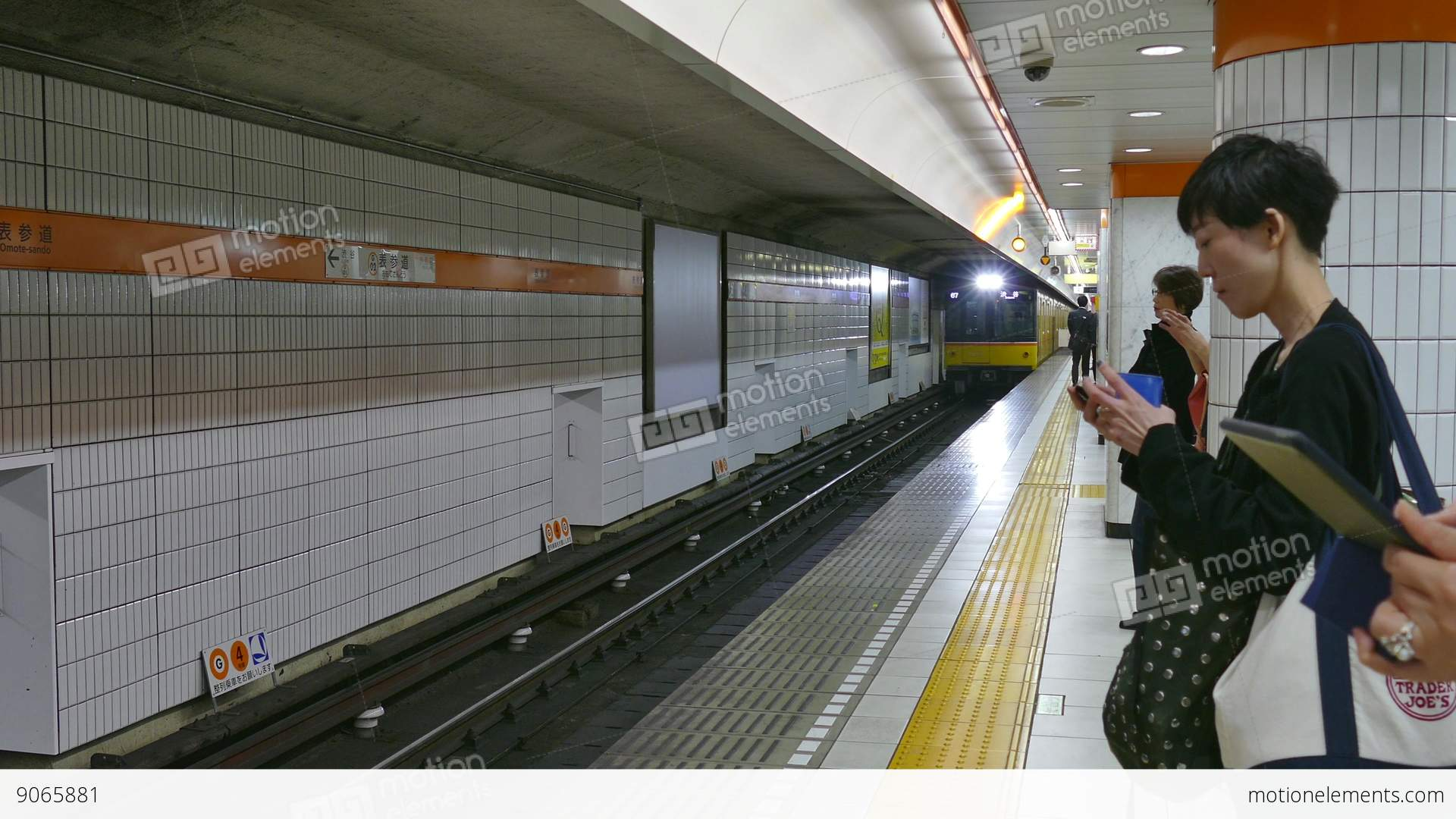 Subway Station Metro Train Commuters People In Tokyo Japan ...