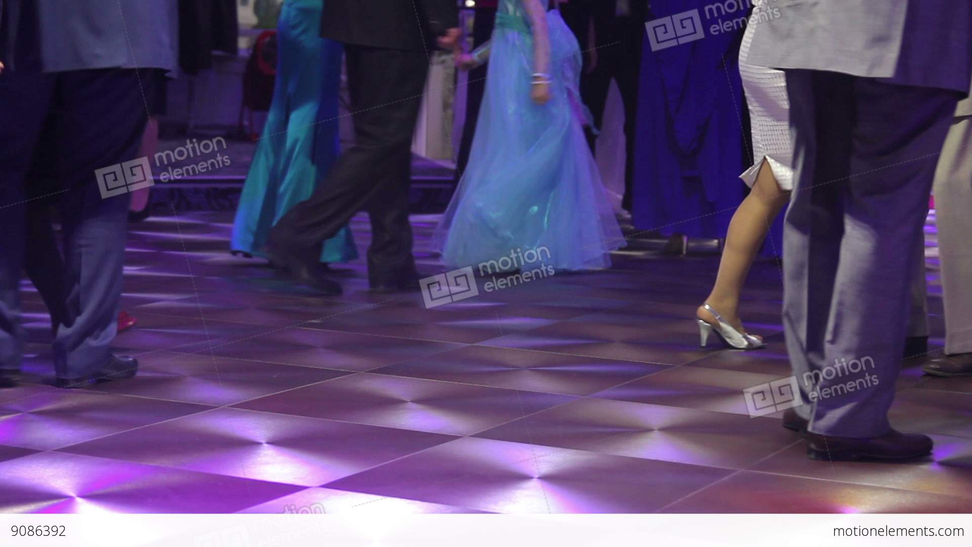 Dancing Peoples At The Wedding Party Dance Floor Stock Video Footage