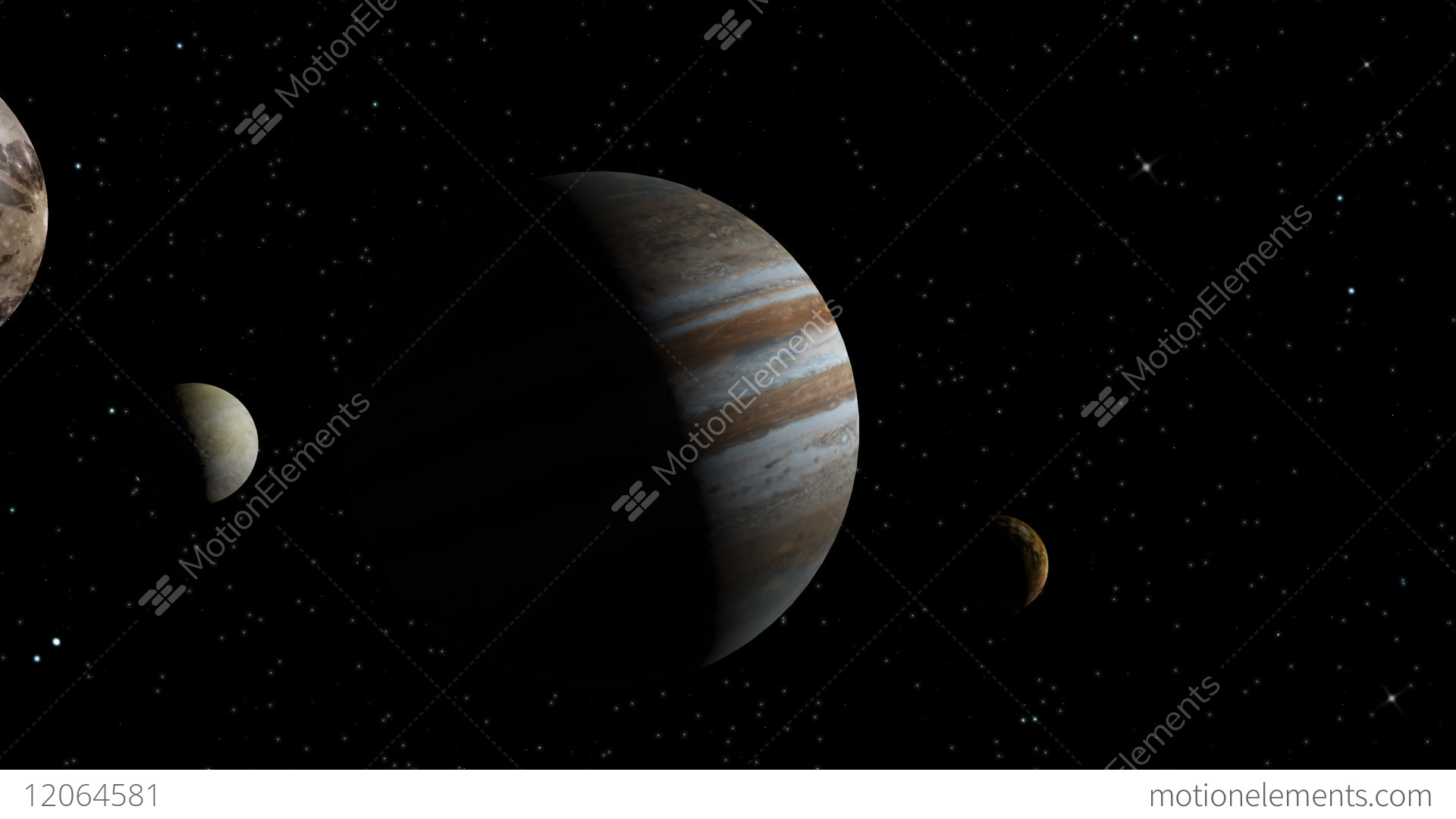 Animated Jupiter Zodiac Horoscope Symbol And Planet 3d Rendering