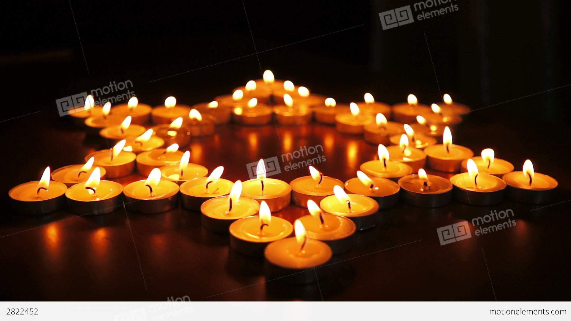Candles Jewish Star David Dolly Stock Video Footage