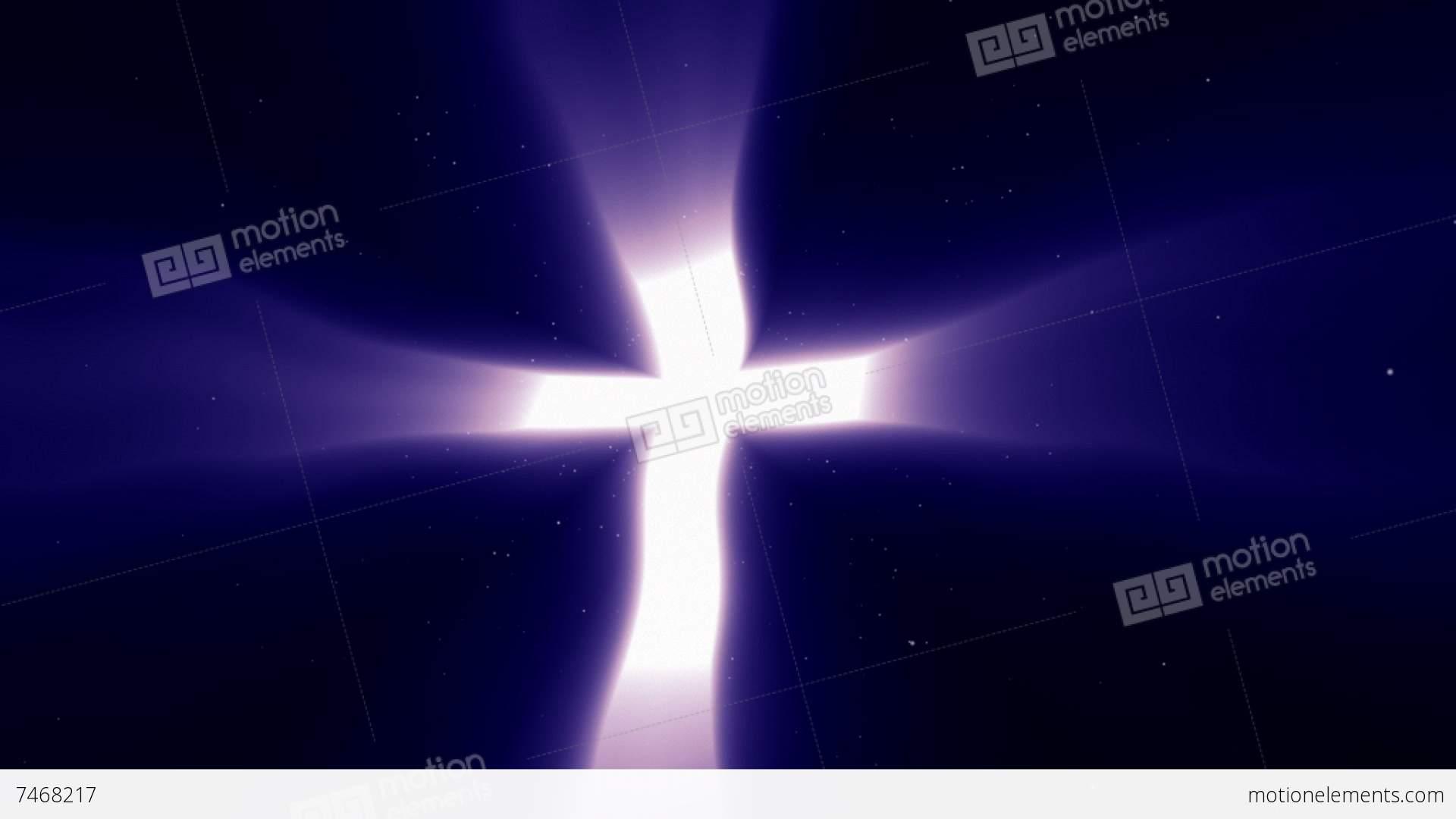 Christian Light Cross Of Heaven Concept Stock Animation 7468217