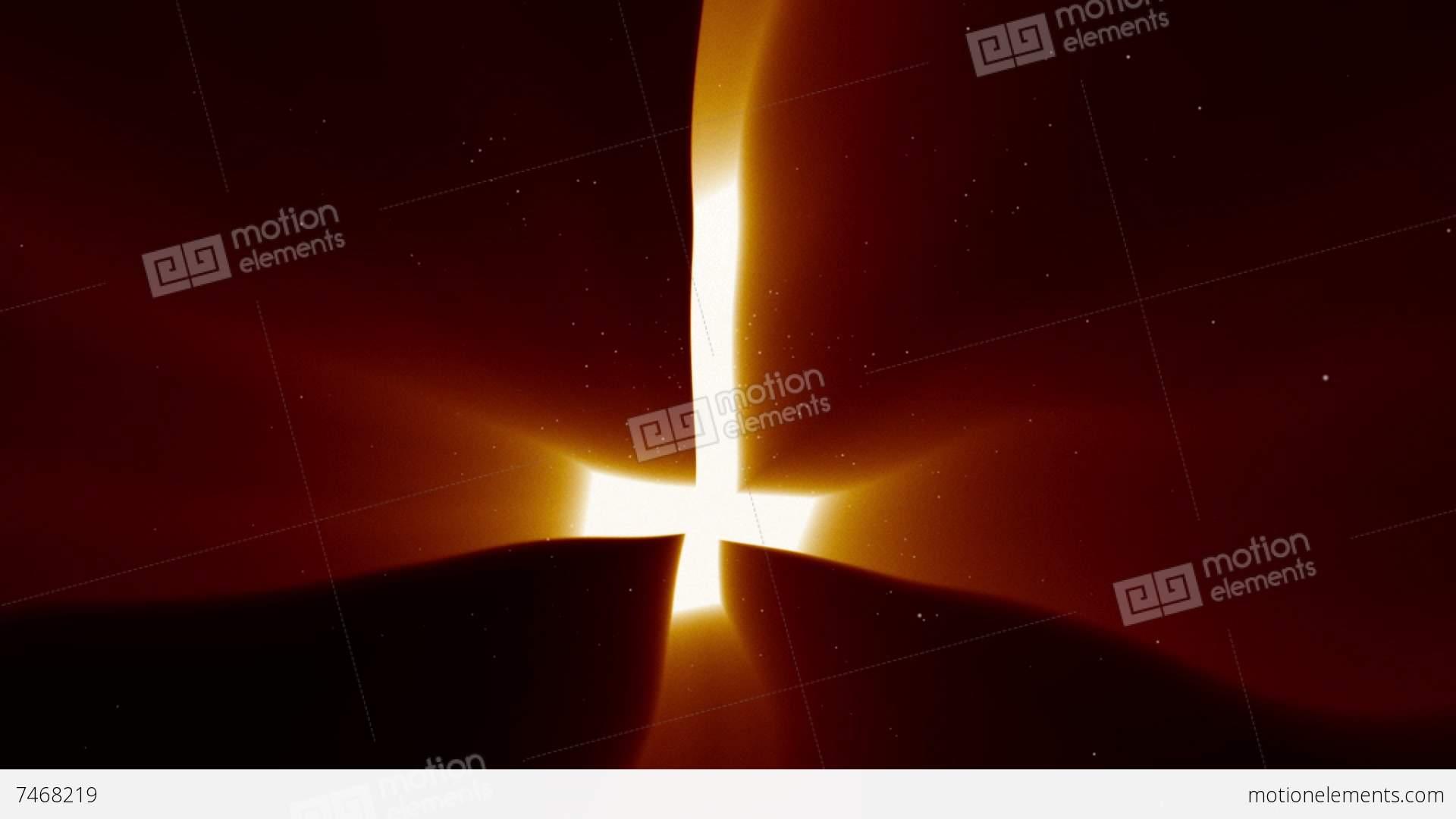 Hellish Upside Down Evil Cross Symbol Stock Animation 7468219