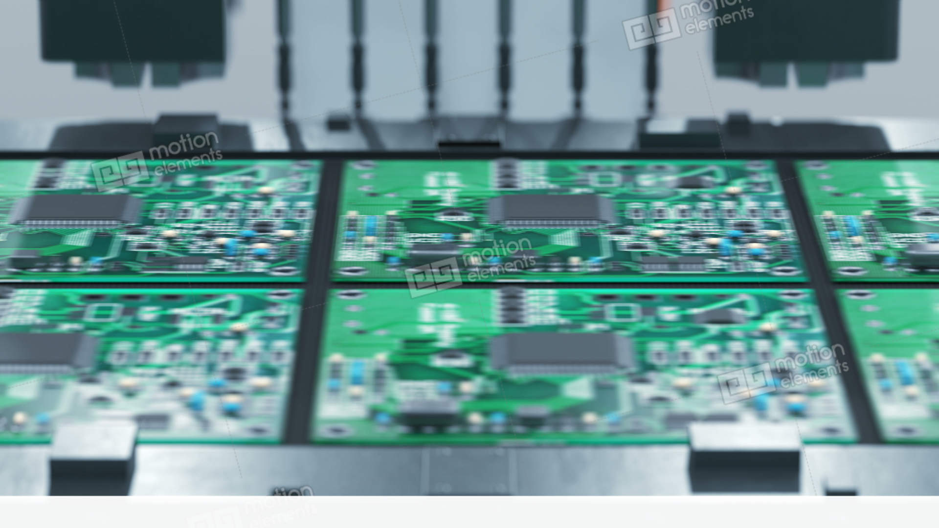 robotic arm electronic circuit board production on conveyor beltrobotic arm electronic circuit board production on stock video footage