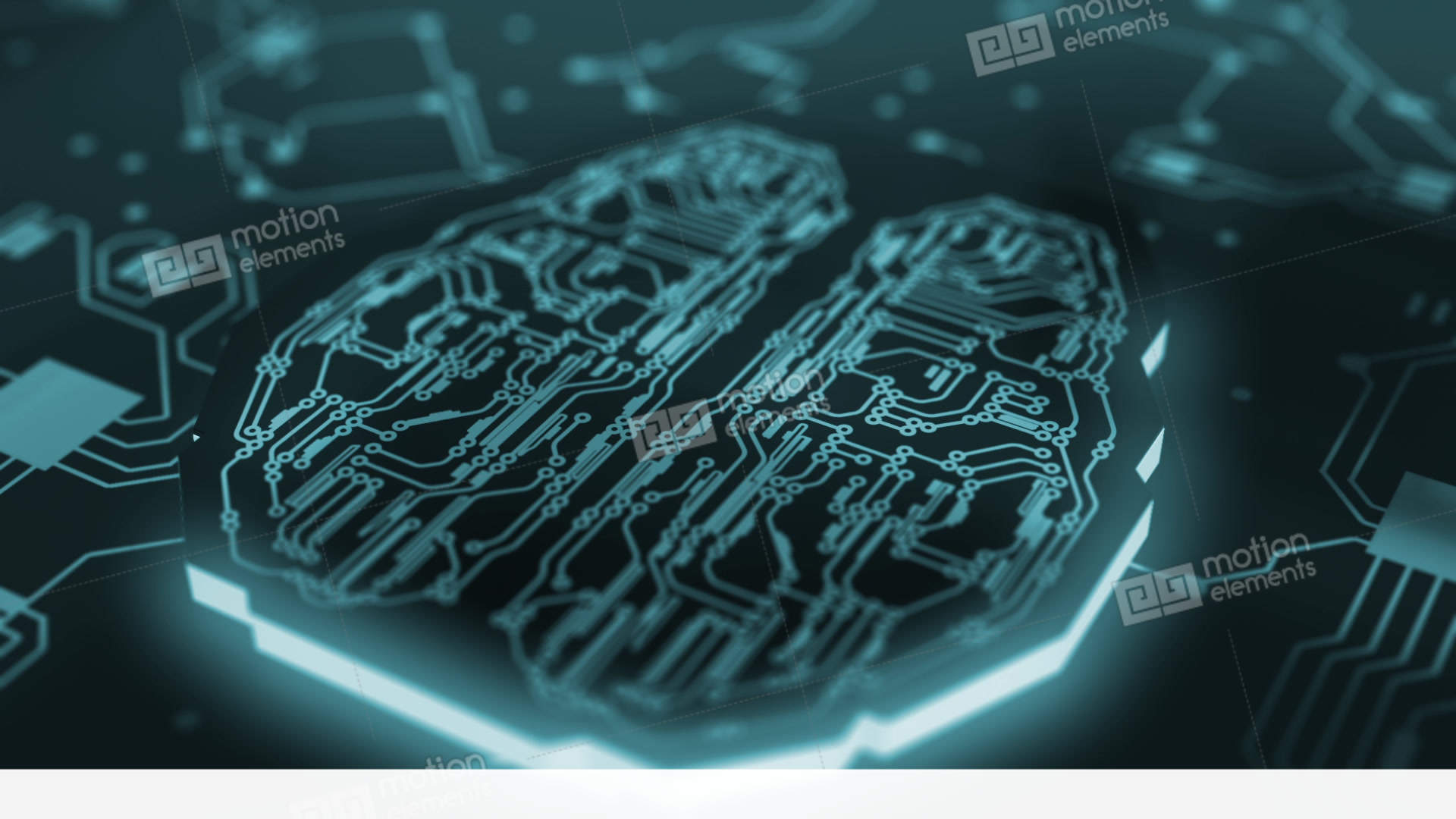 Digital brain artificial intelligence network connection - Brain wallpaper 3d ...