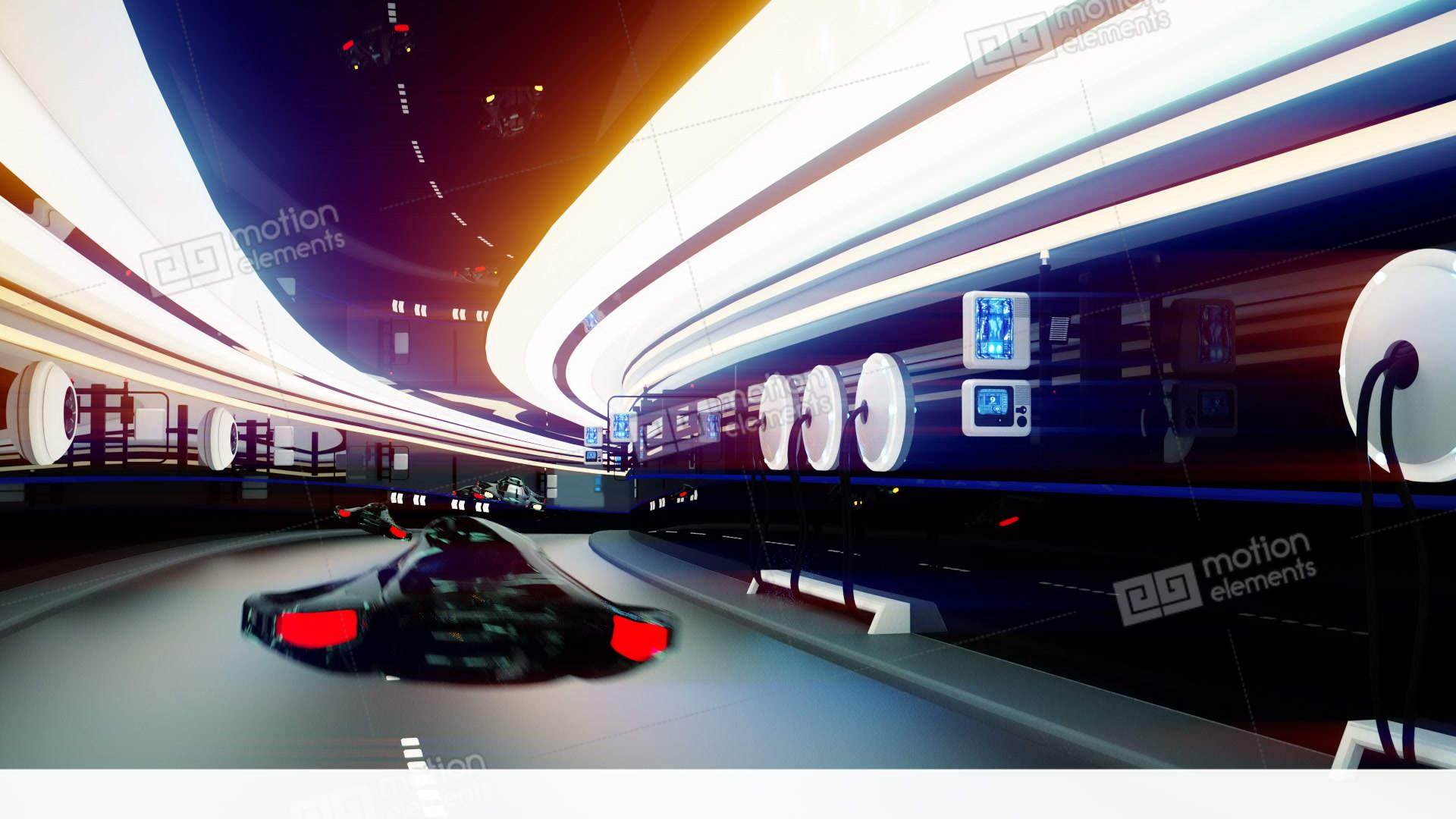 Futuristic flying cars with futuristic police in sci fi tunnel futuristic flying cars with futuristic police in sci fi voltagebd Choice Image