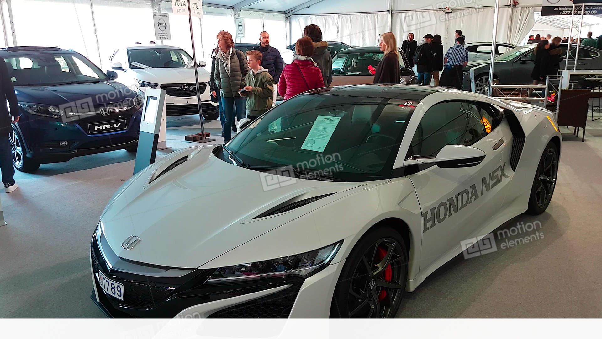 New Honda Nsx Sports Hybrid Car Stock Video Footage