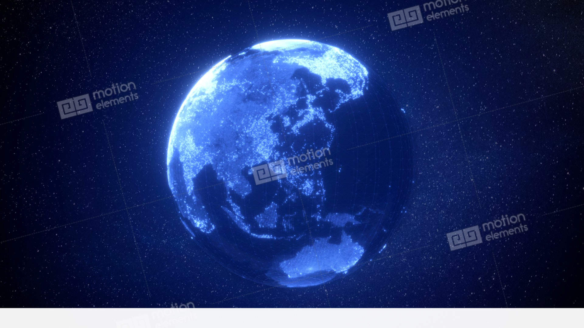 Digital Earth Loop Stock Animation