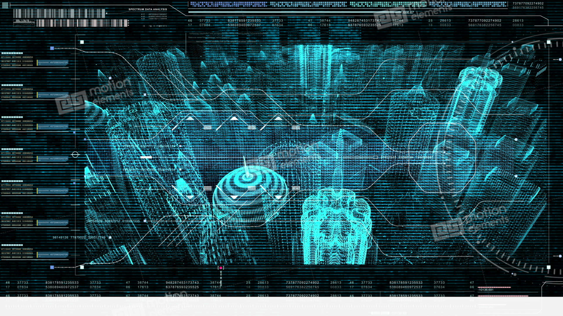 motion graphic futuristic user interface head up display stock