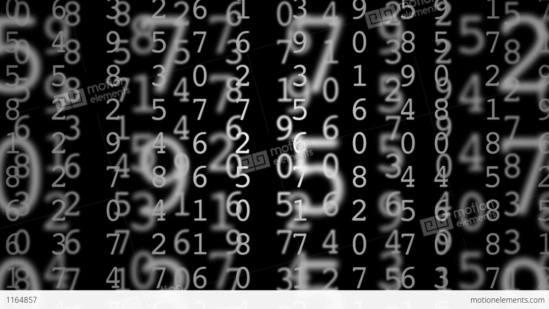 matrix numbers stock animation 1164857