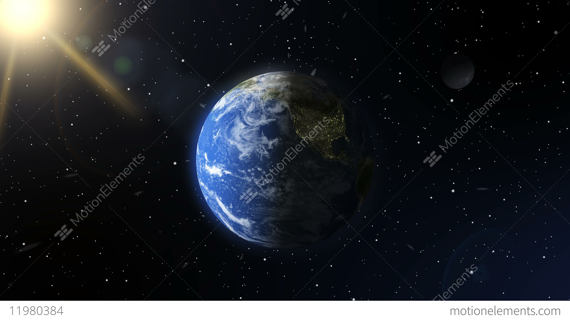 A View Of The Earth From Outer Space. A Realistic Planet ...