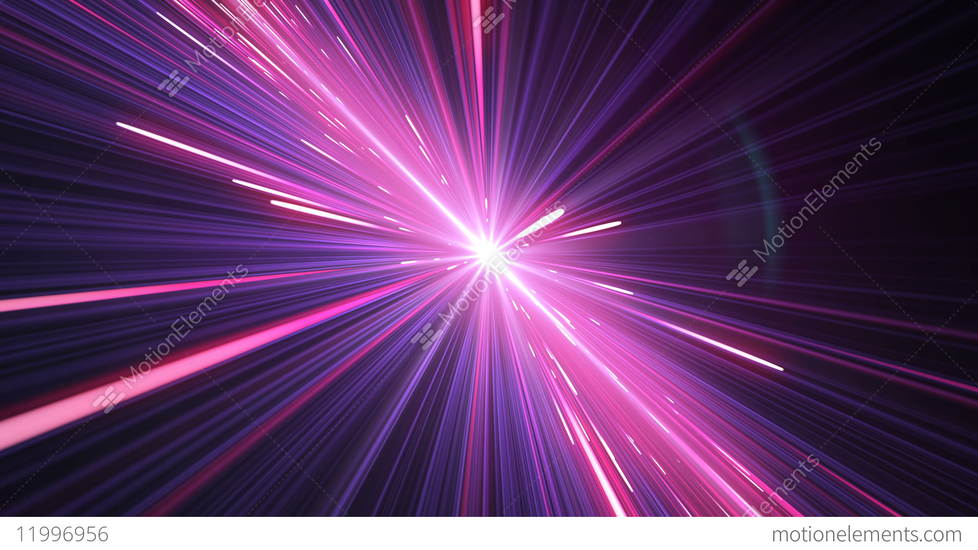 Moving Through Beautiful Neon Lines Pink Blue Color Stock Video Footage