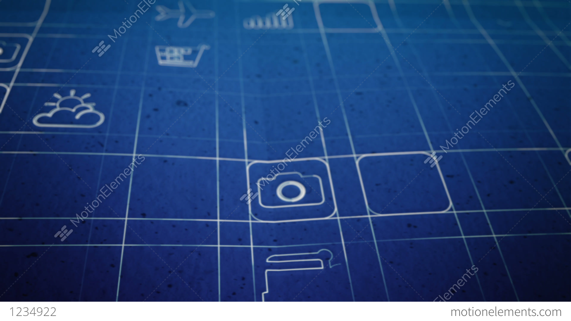 Mobile app development blueprint concept stock animation 1234922 mobile app development blueprint concept stock video footage malvernweather Image collections