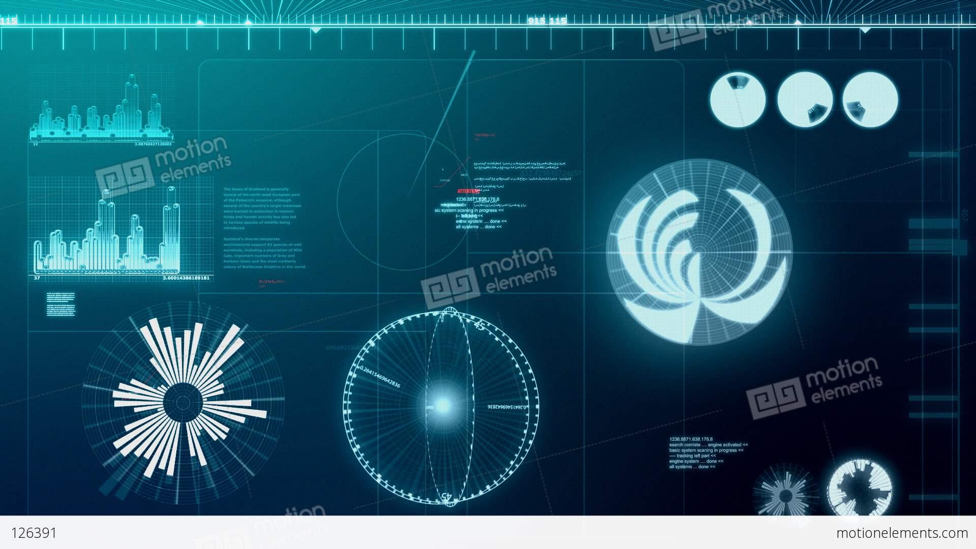 computer screen loop stock animation