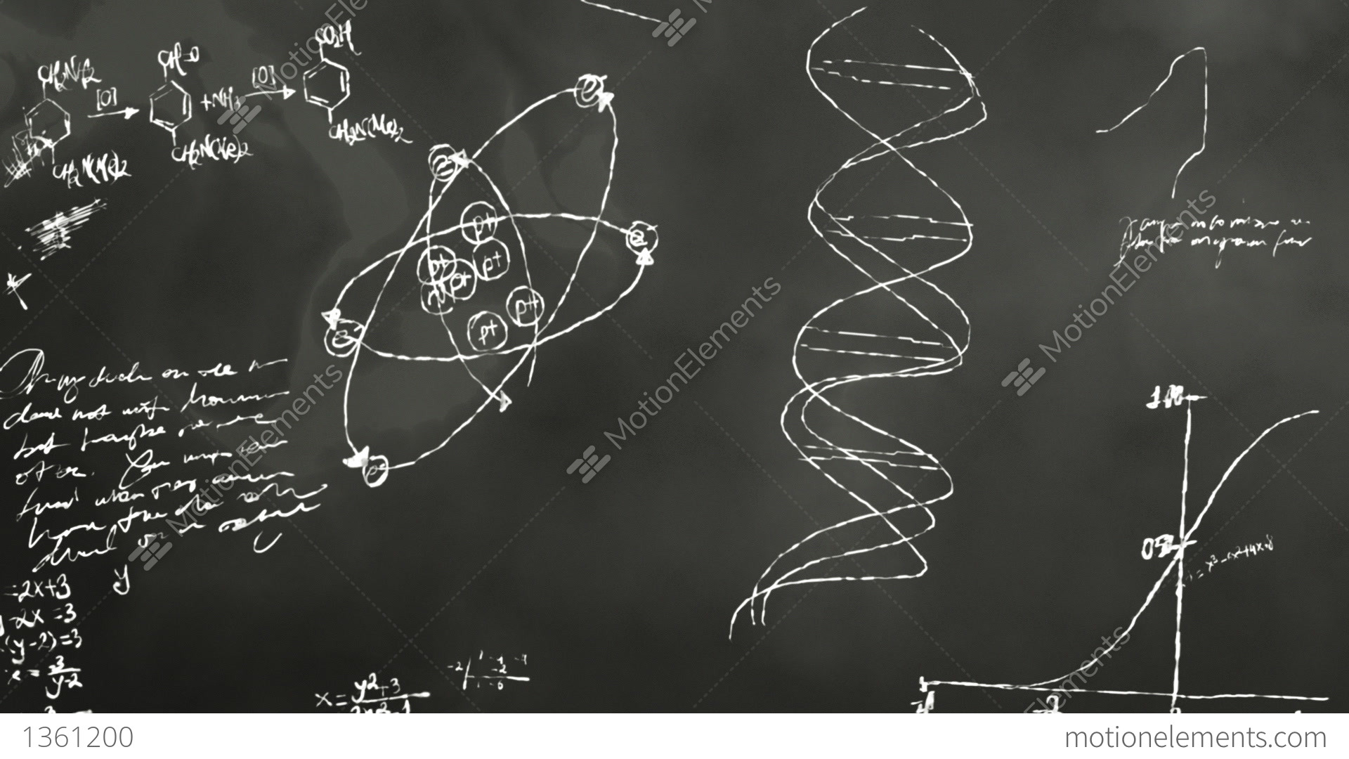 math and science blackboard scribbling stock animation 1361200 rh motionelements com Monitor and Wireless Camera System Block Diagram Hertzsprung-Russell Diagram