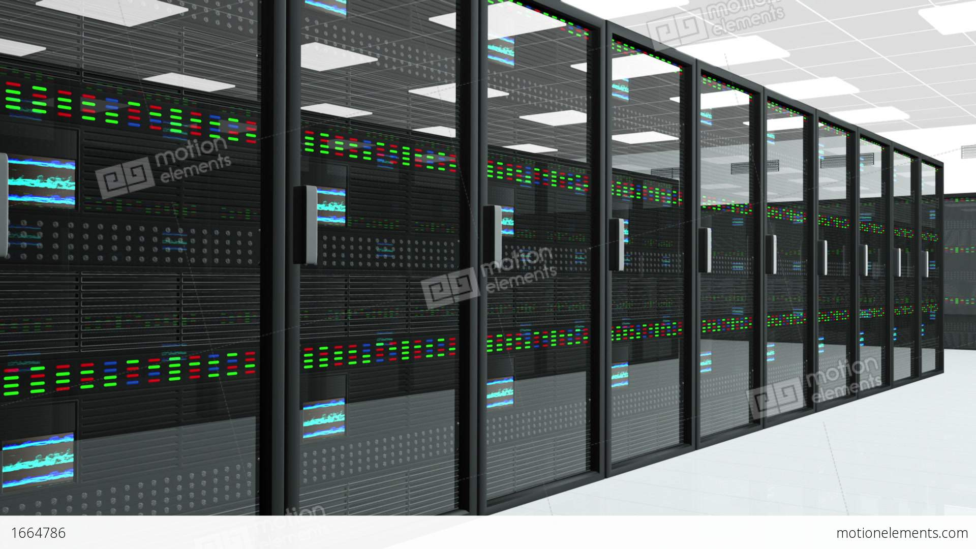 Server Room 3 Stock video footage | 1664786
