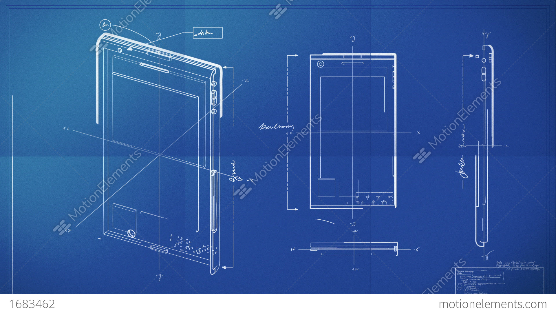 Smartphone blueprint stock animation 1683462 smartphone blueprint stock video footage malvernweather Gallery