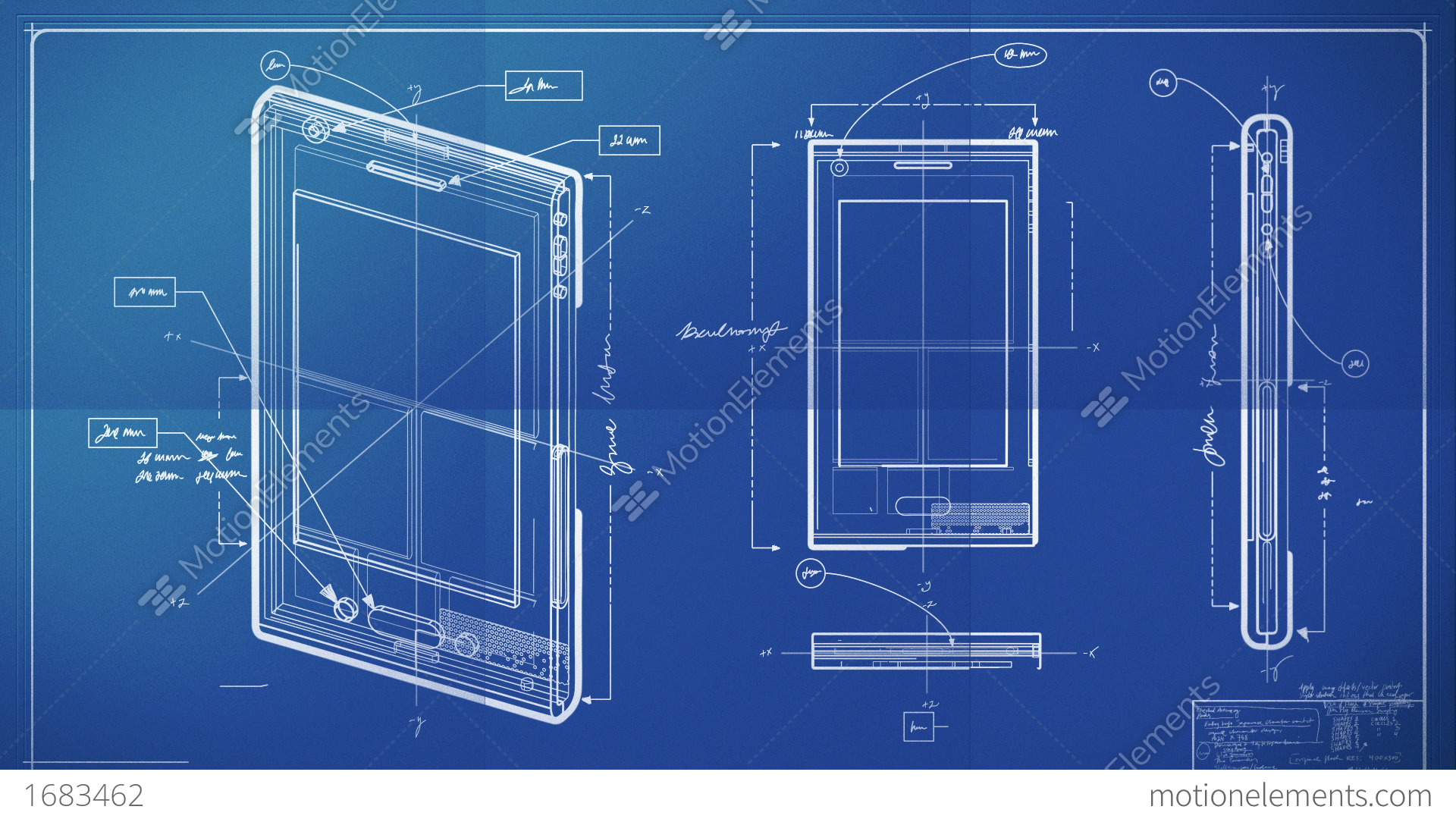 Smartphone blueprint stock animation 1683462 smartphone blueprint stock video footage malvernweather Gallery