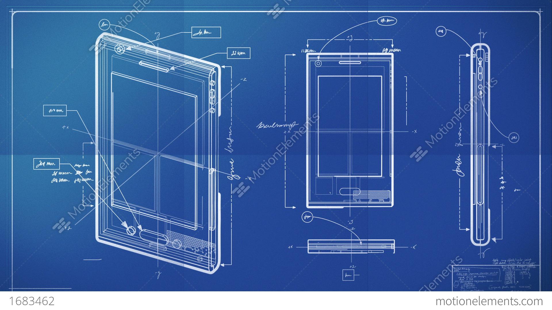 Smartphone blueprint animacin 1683462 smartphone blueprint videos de stock malvernweather Images