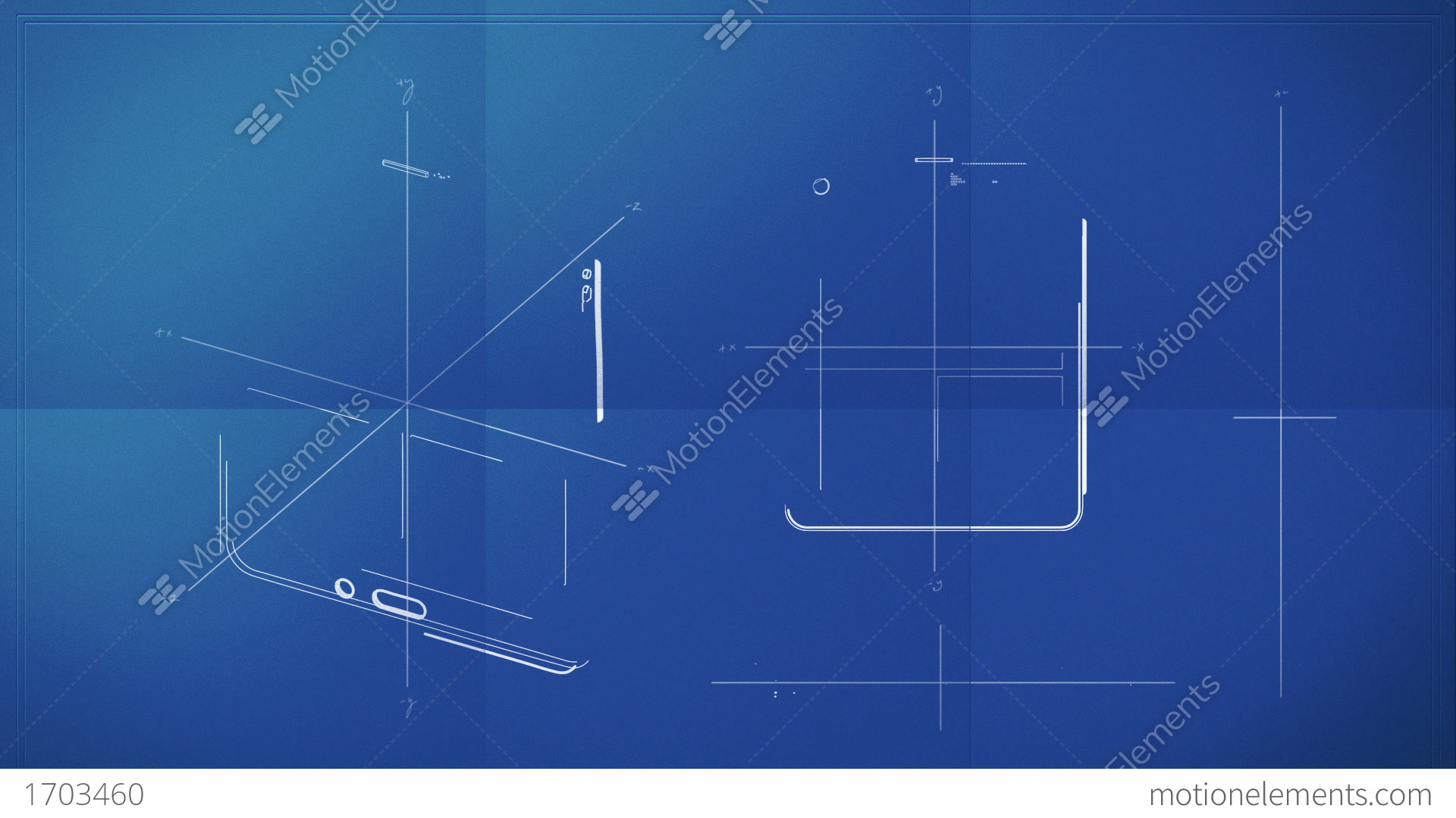 Tablet pc blueprint stock animation 1703460 tablet pc blueprint stock video footage malvernweather Images