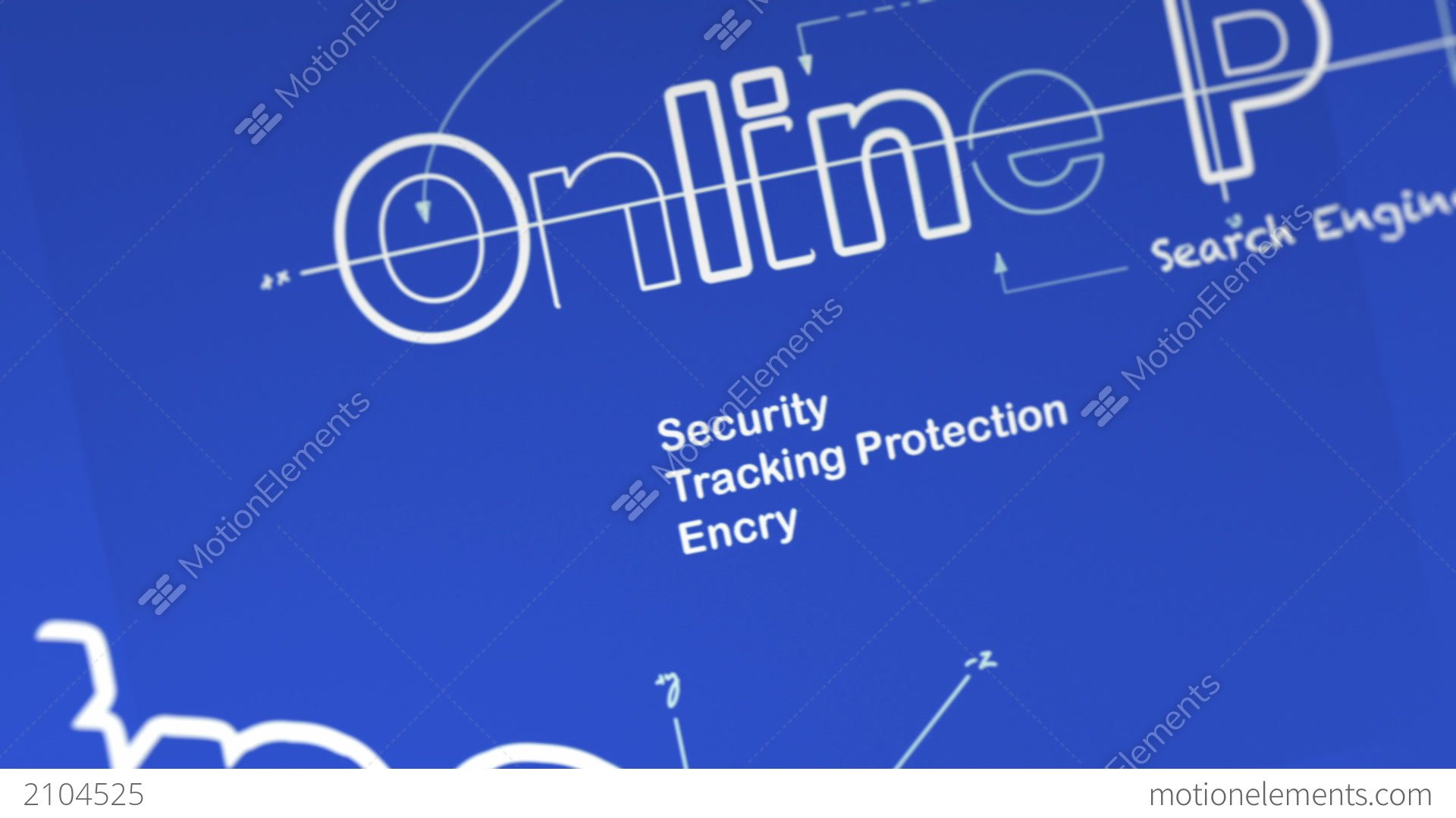 A blueprint for online privacy stock animation 2104525 a blueprint for online privacy stock video footage malvernweather Choice Image