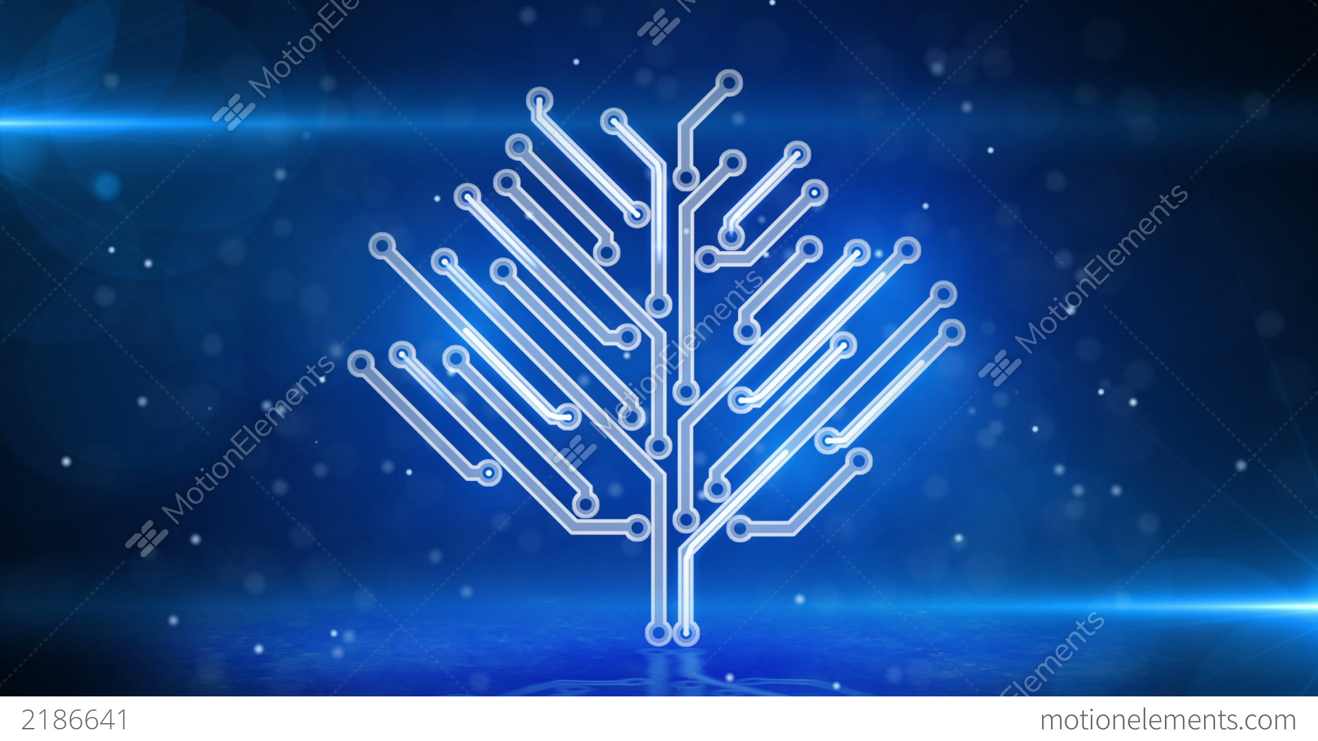 Blue Circuit Board Electronic Hi-tech Tree Loop Stock Animation ...
