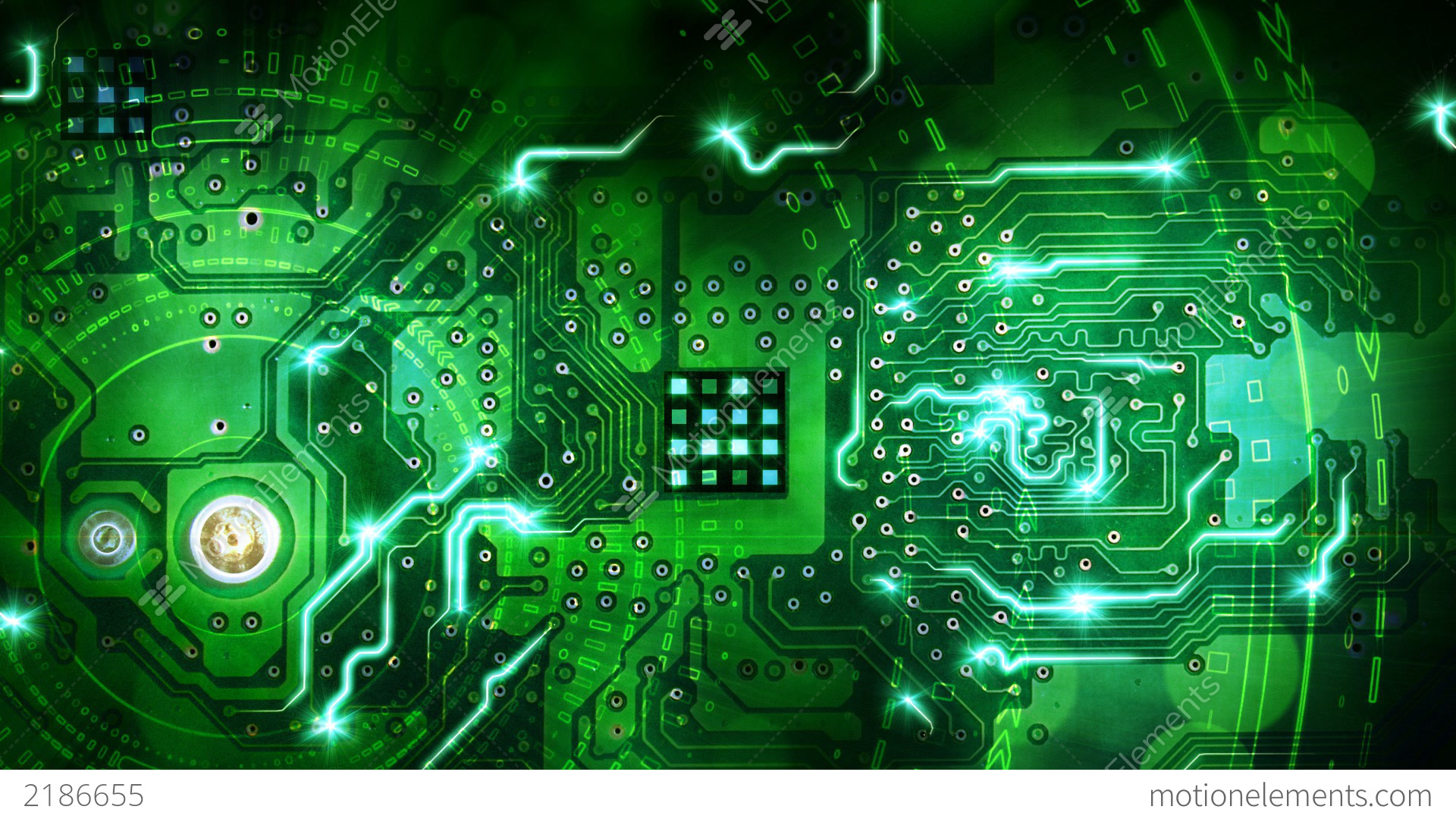 Green Computer Circuit Board Background Loop Stock ... Computer Science Wallpaper 1920x1080