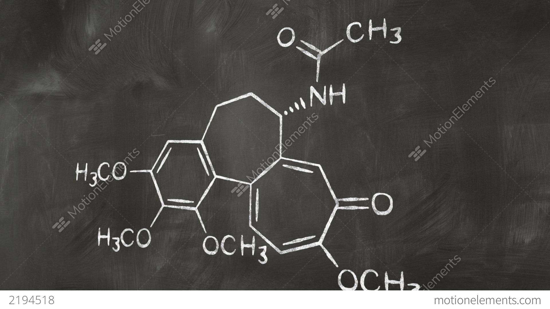 drawing chemical formula on chalkboard stock animation 2194518