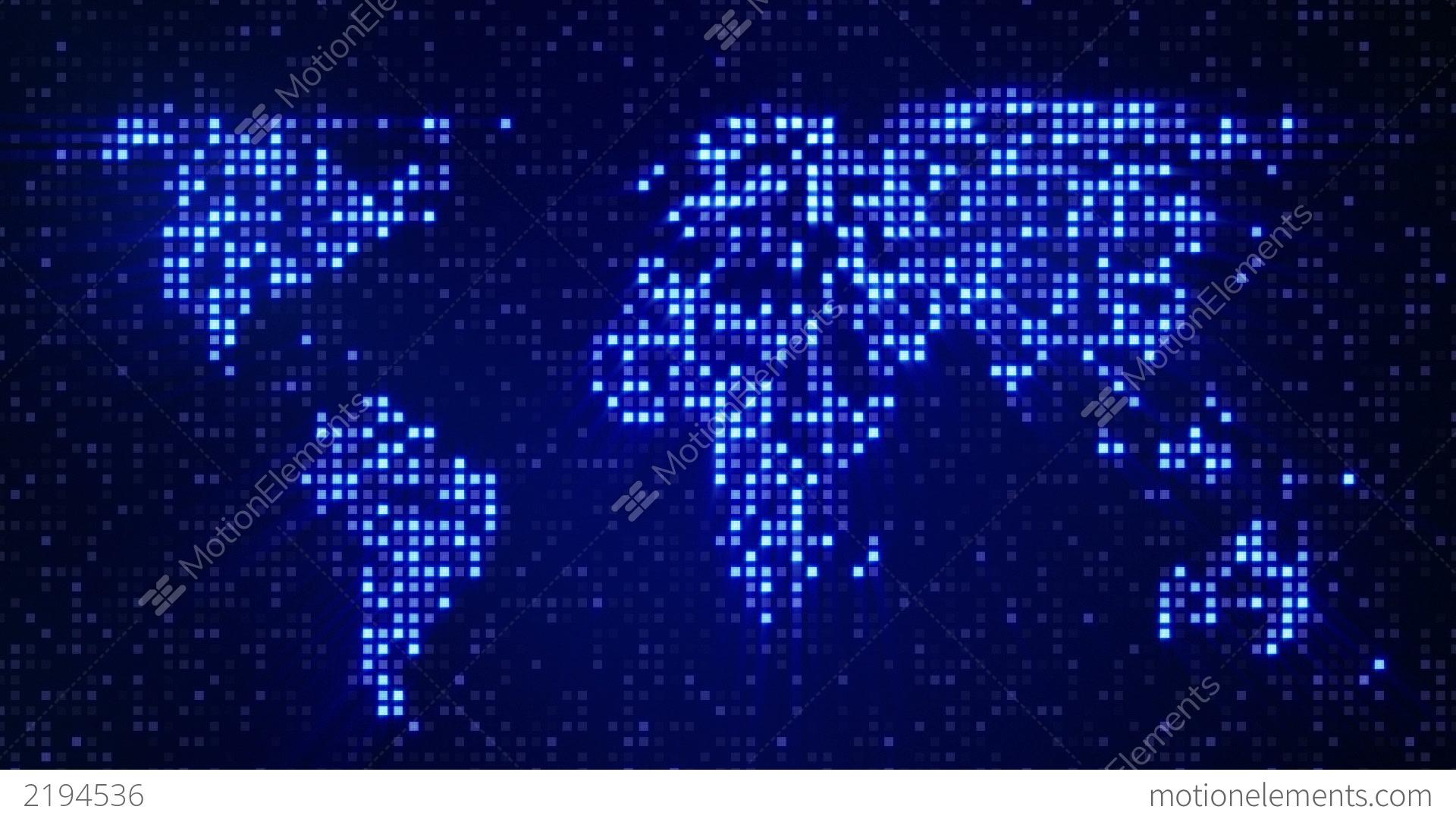 Digital blue world map loop stock animation 2194536 digital blue world map loop stock video footage gumiabroncs Choice Image