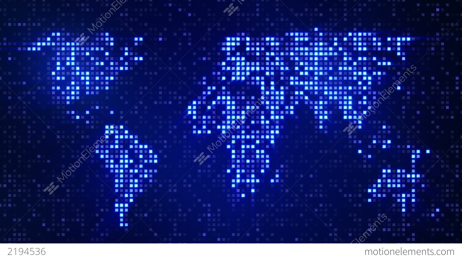 Digital blue world map loop stock animation 2194536 - Digital world hd ...