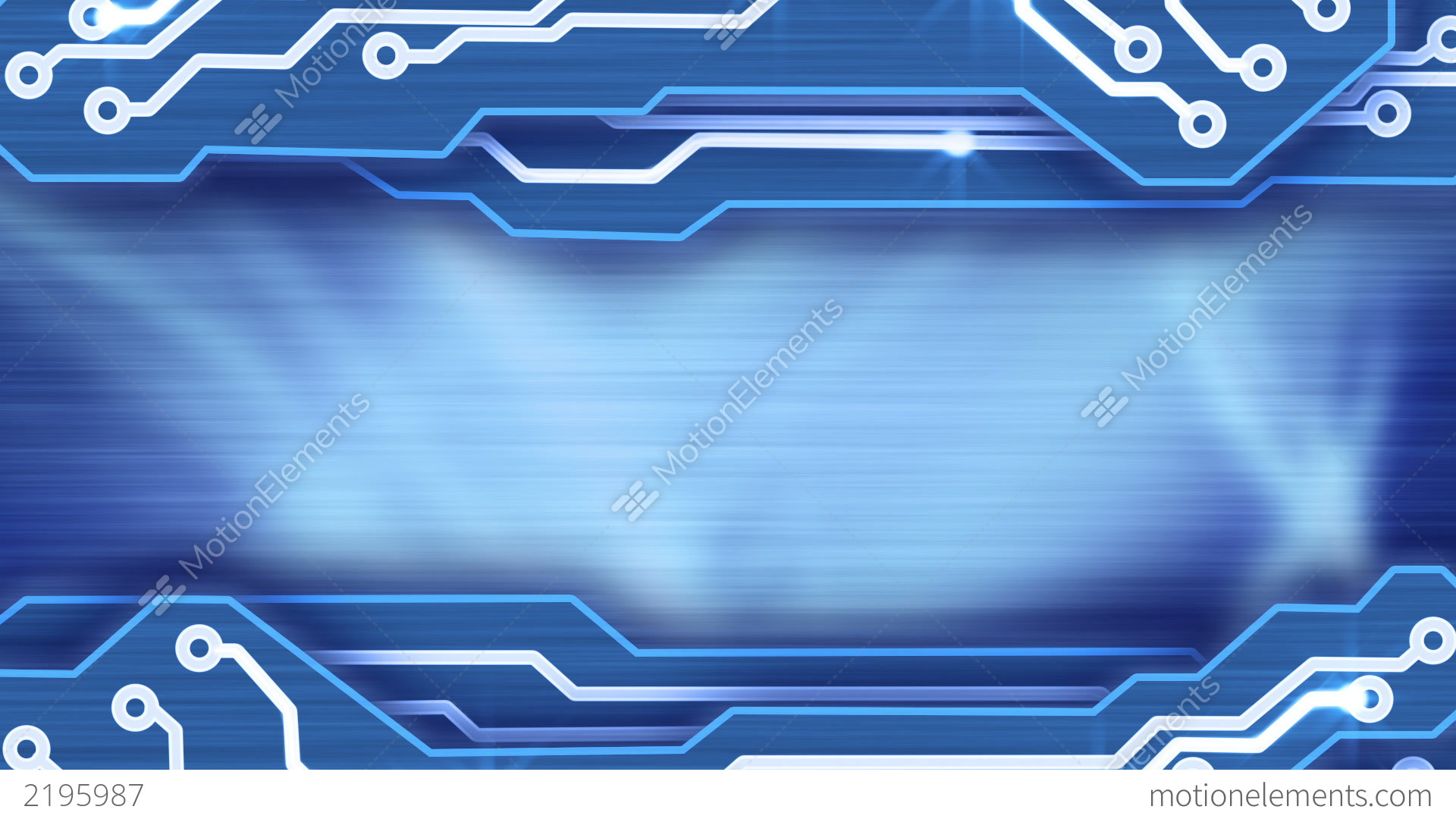 electronic circuit plates blue loop background stock