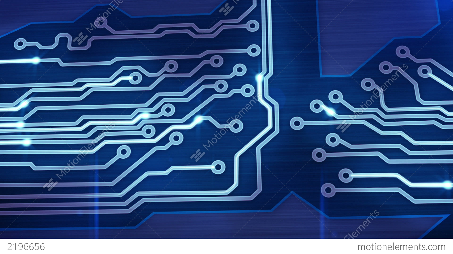 Computer Circuit Board Blue Loopable Background Hi Res 010772881