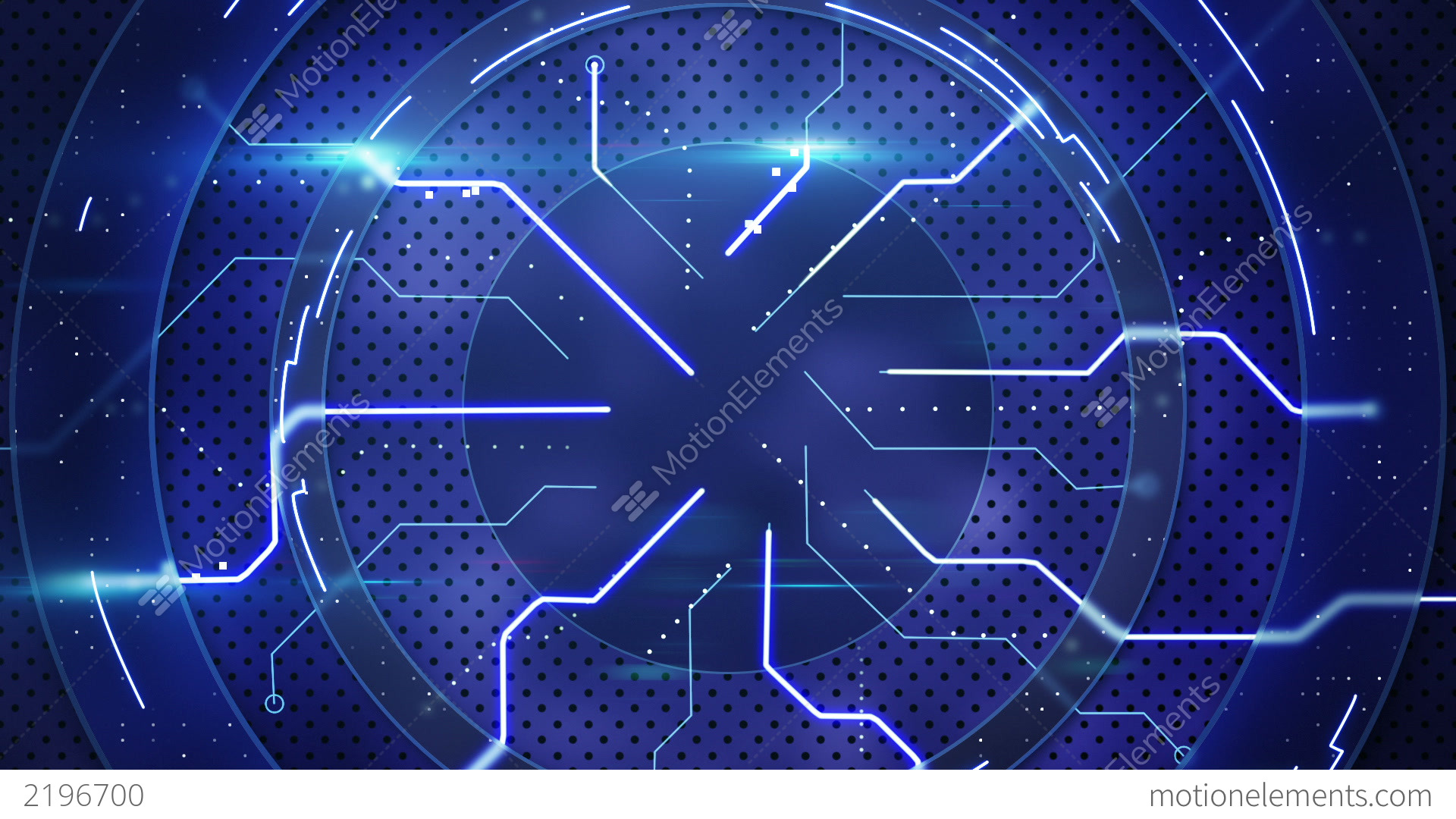Blue Technology: Blue Hi-tech Abstract Loopable Background Stock Animation