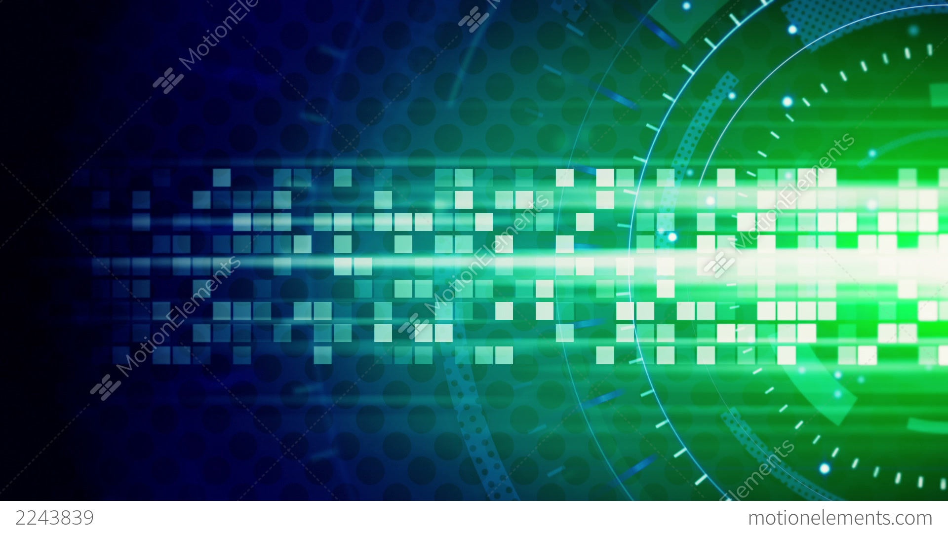 green blue technology loop background stock animation