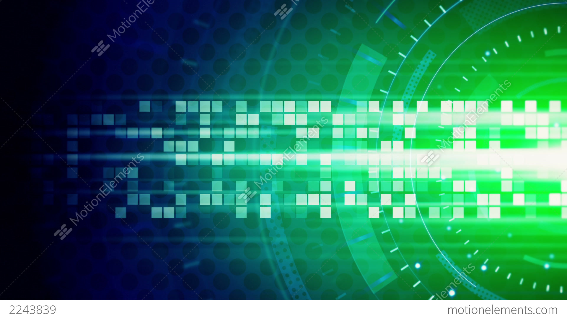 Green Blue Technology Loop Background Stock Animation ...