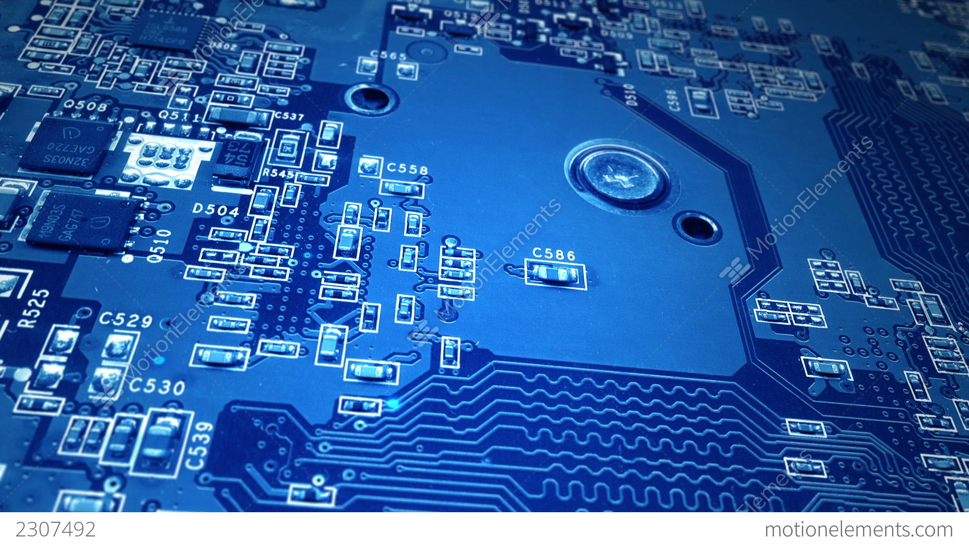 Blue Circuit Board Stock Animation 2307492
