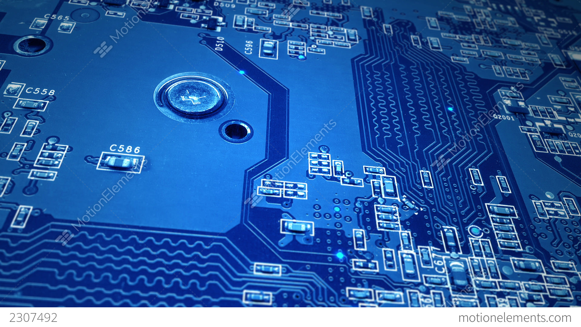 Blue Circuit Board Stock Animation | 2307492