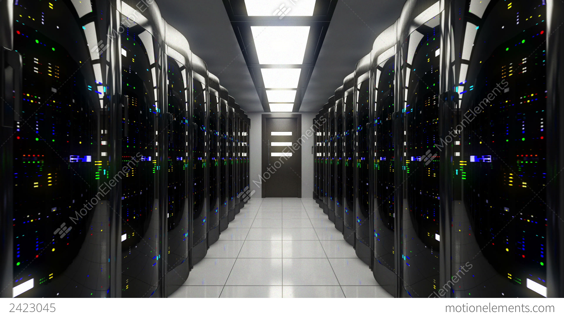 Server Room Photography : Blackout in server room stock animation