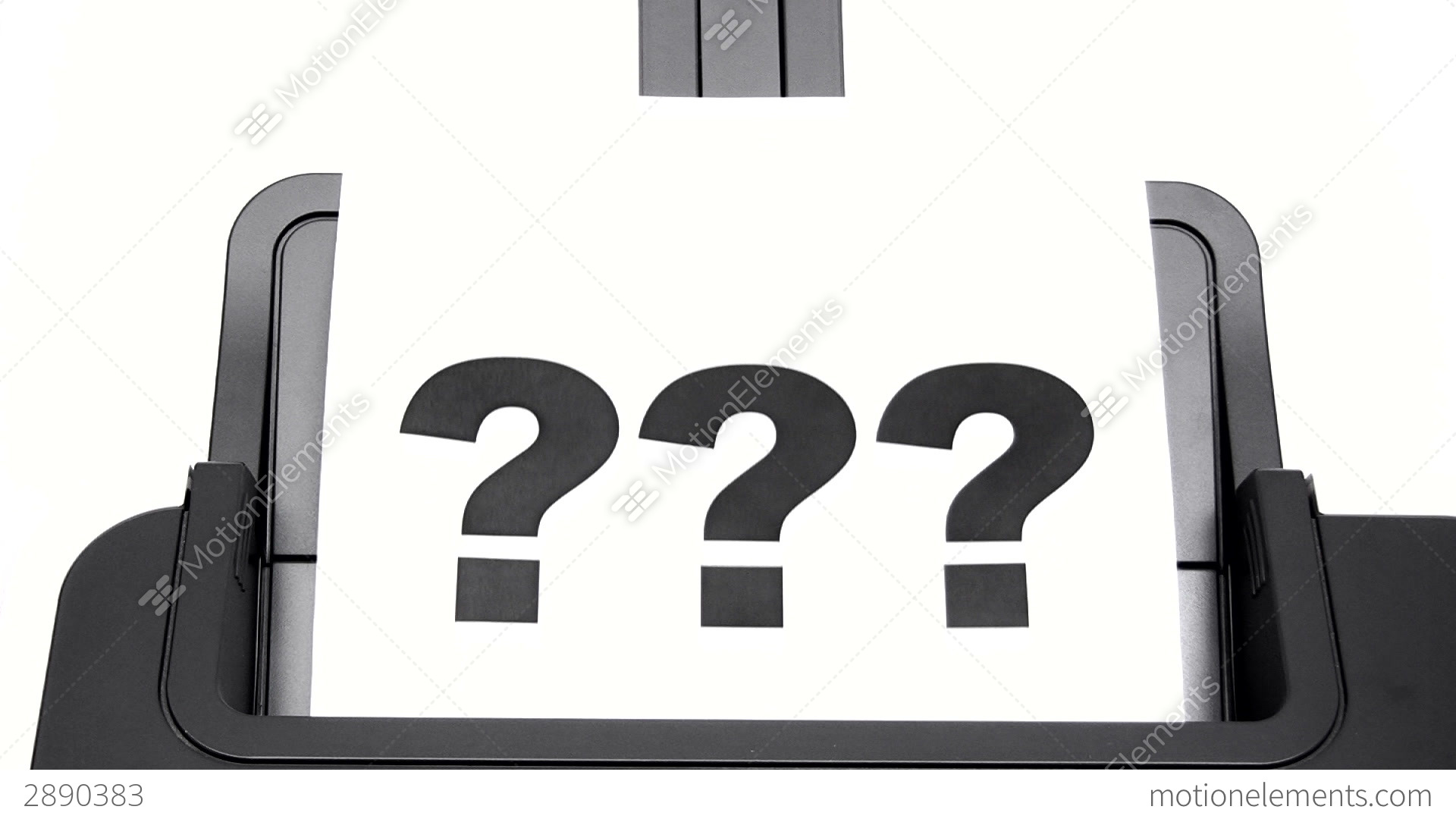Pics photos clip art cartoon scientist with question mark stock - Printing Question Marks Stock Video Footage