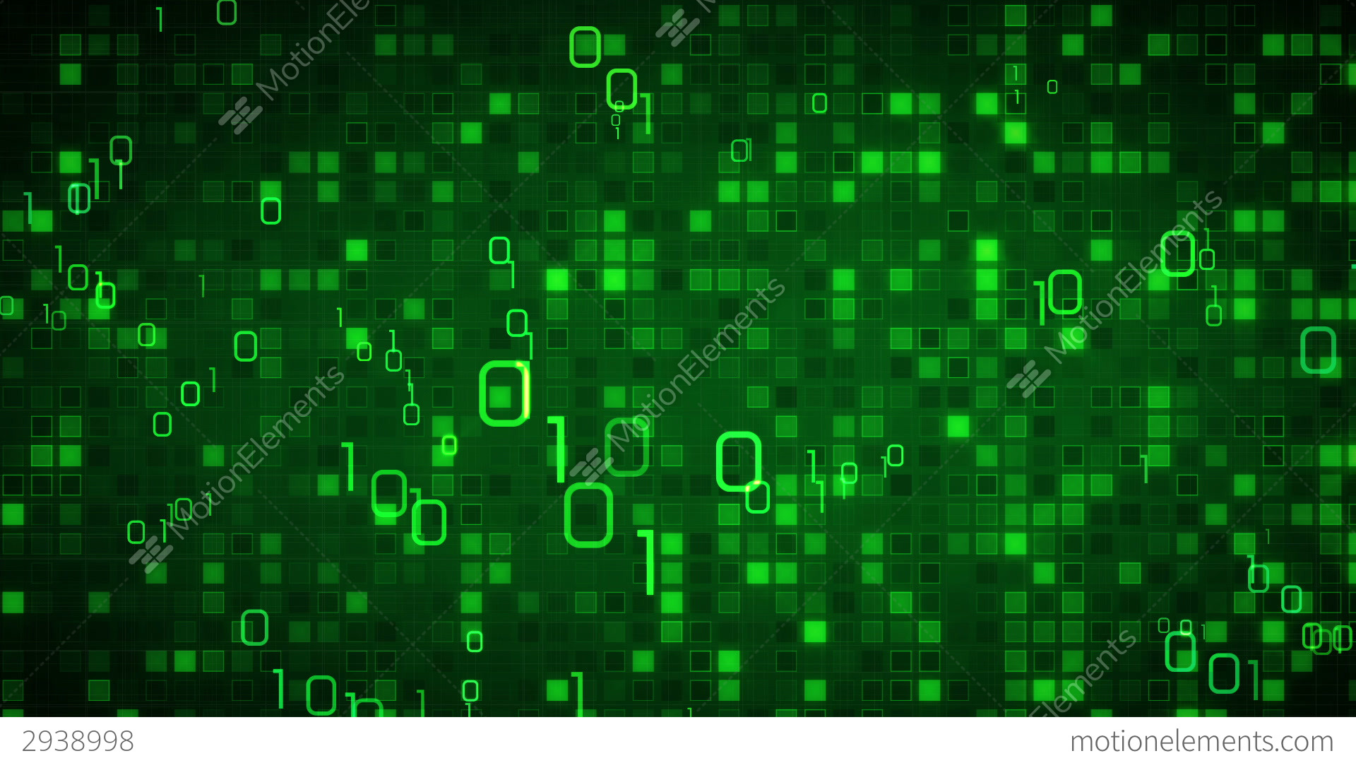 Green Information Technology Loopable Background Stock ...