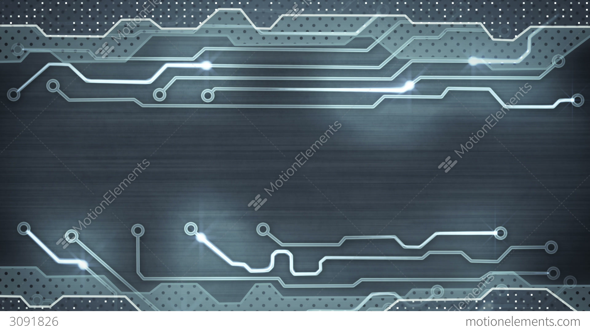 Grey Circuit Board Loopable Background Stock Animation | 3091826